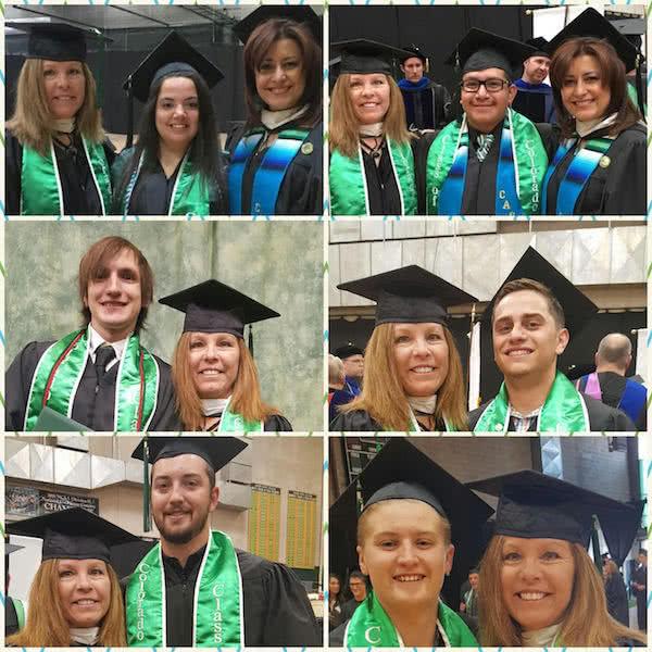 Green college graduation stoles