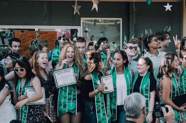 Green graduation sashes fa