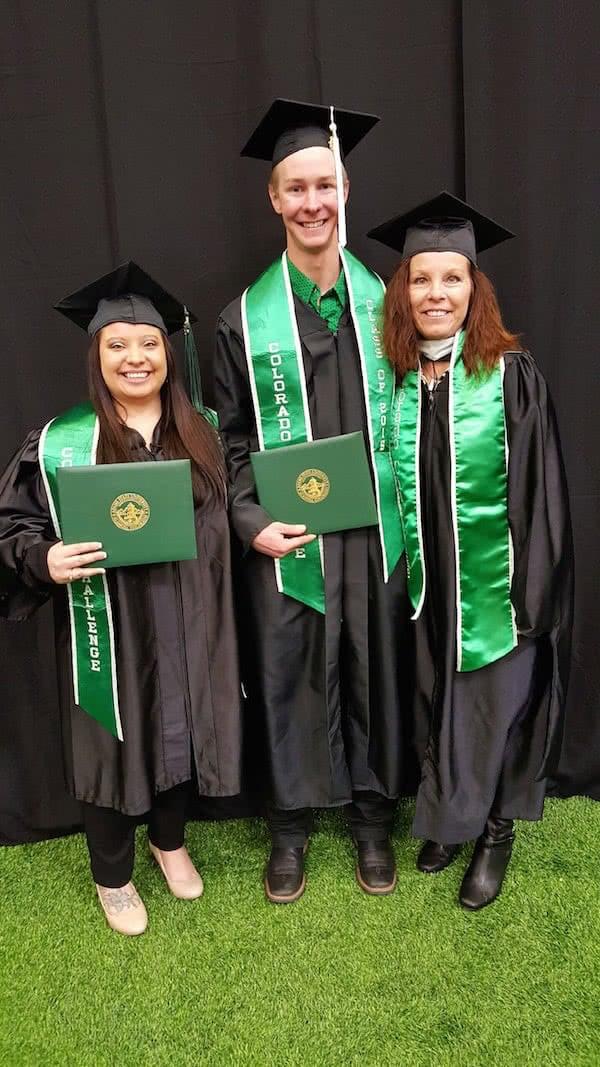Green graduation stoles cc