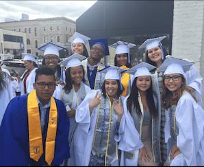 Silver graduation stoles