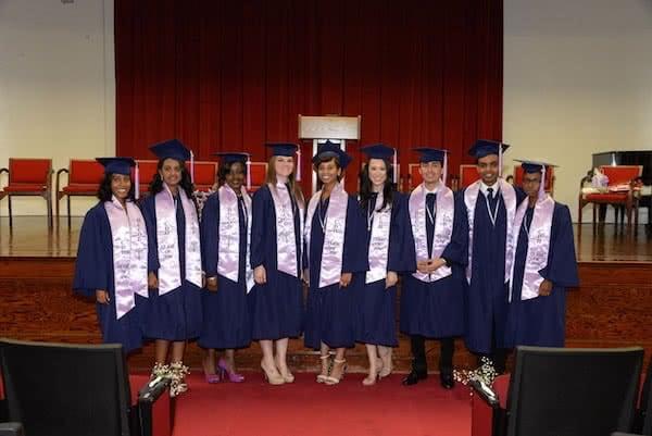 White graduation stoles