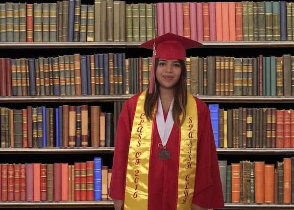 Yellow gold graduation stole