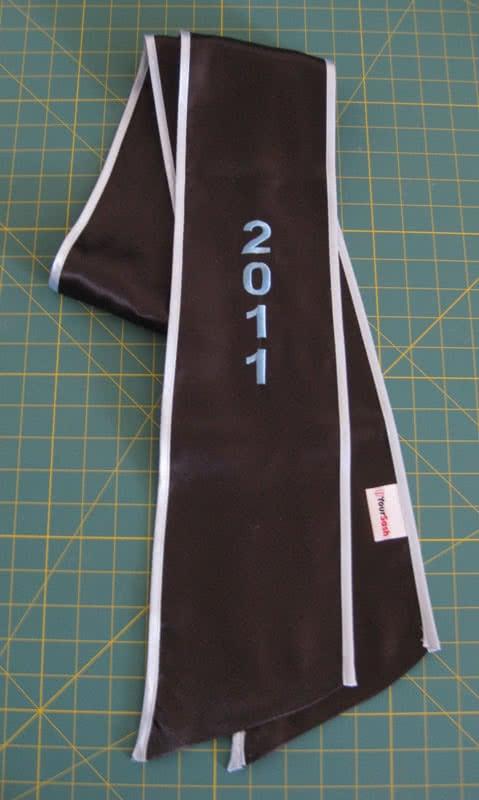 Black graduation sash 2011