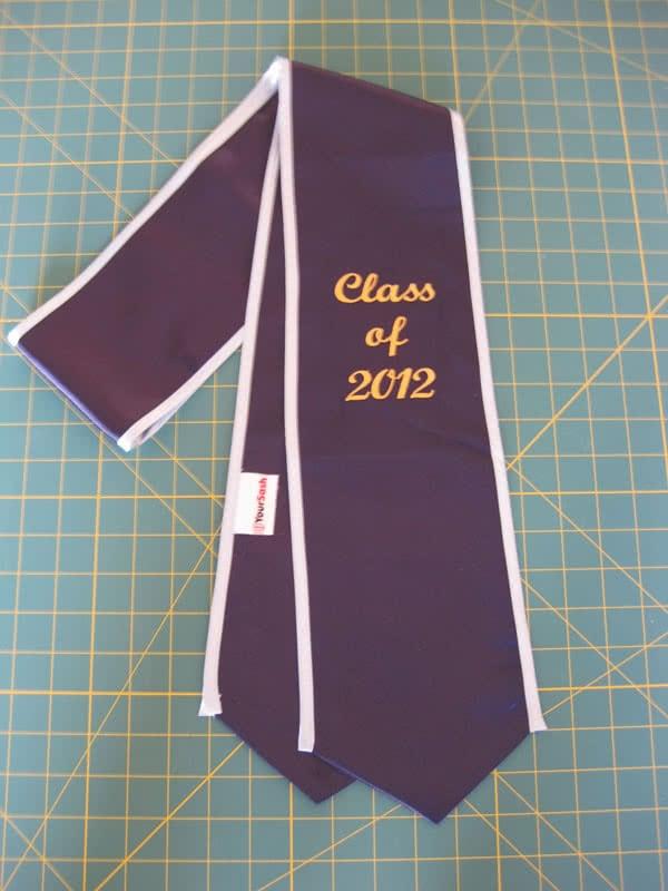 Graduation stole class of 2012