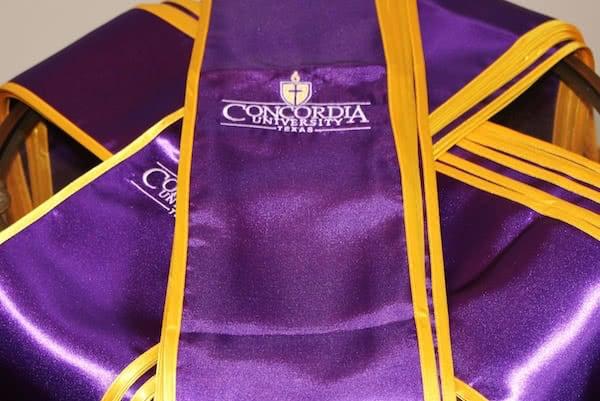 Purple concordia graduation sash