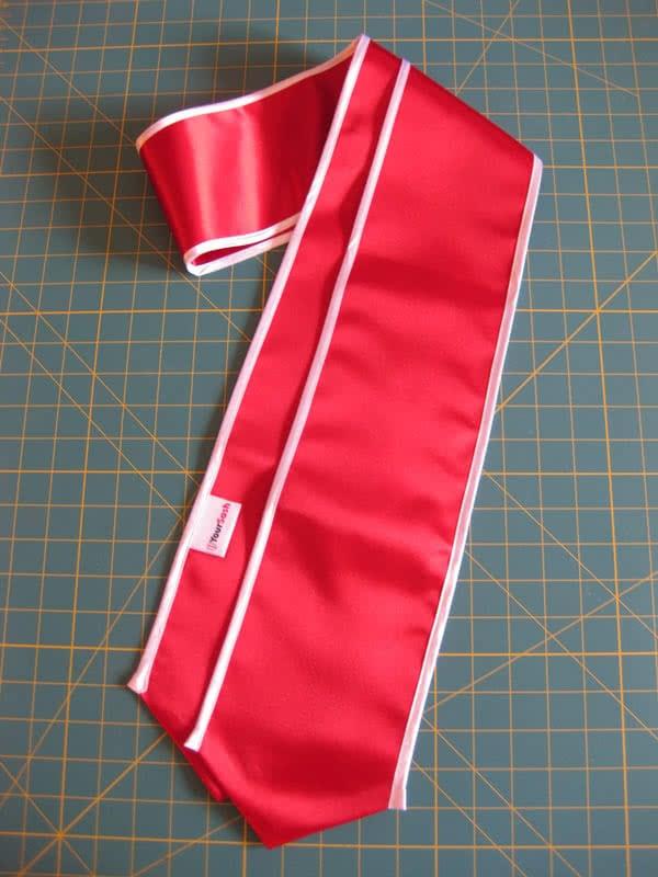Red graduation sash