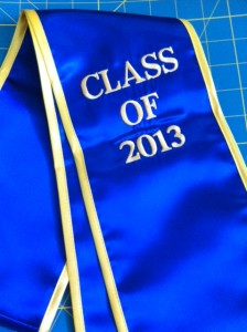 Graduation Stole Class of 2013